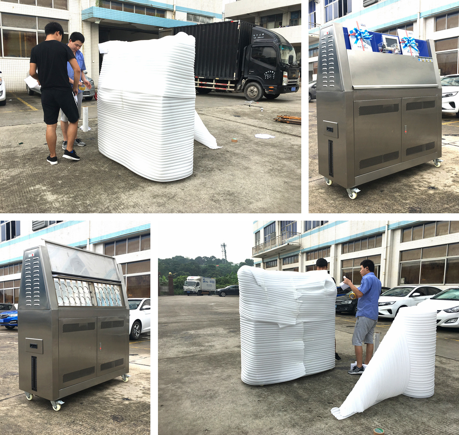 UV test chamber packing and shipment