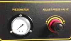 pressure gage and pressure regulating valve