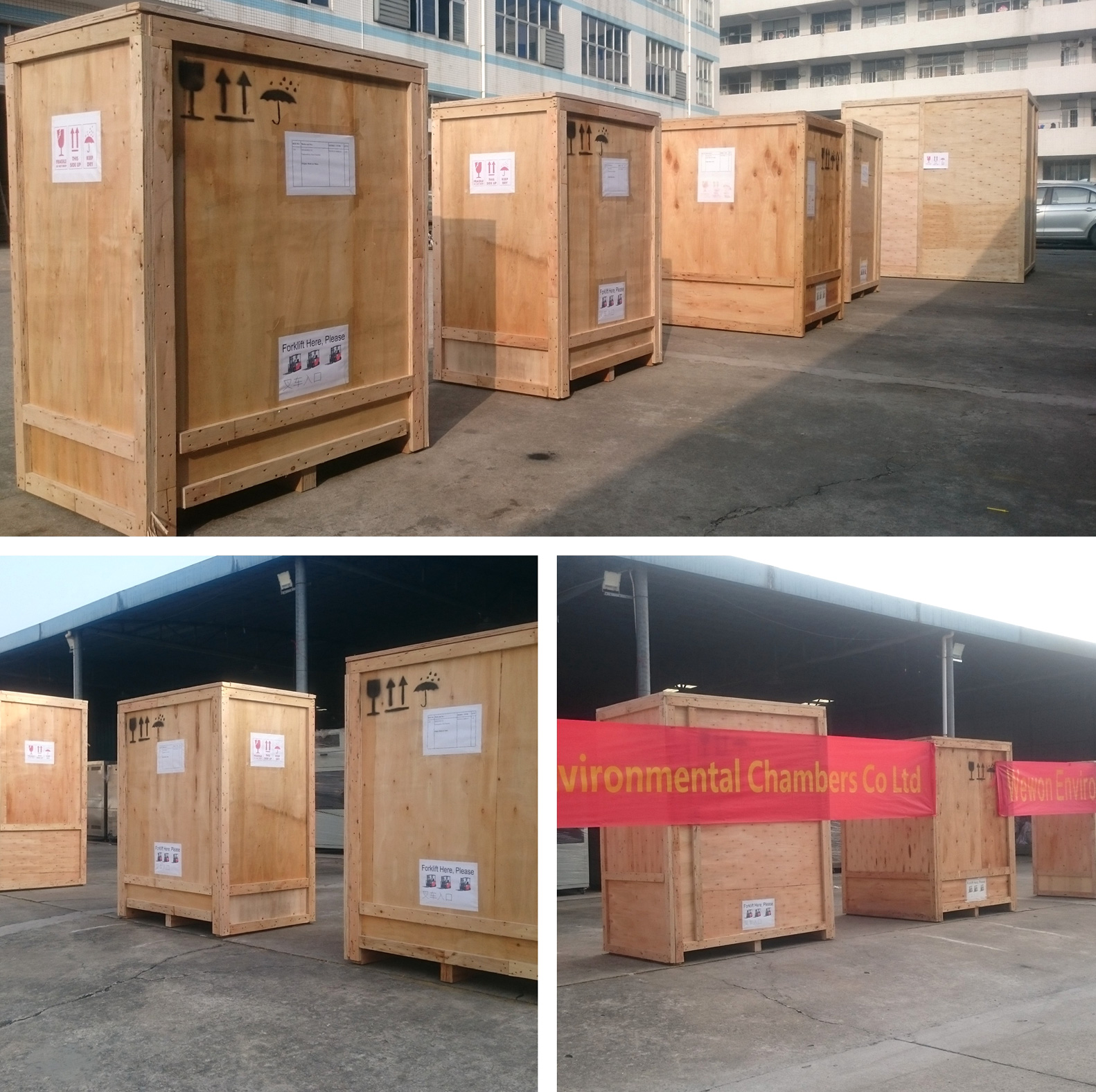 4050 liters temperature oven packing and shipment work