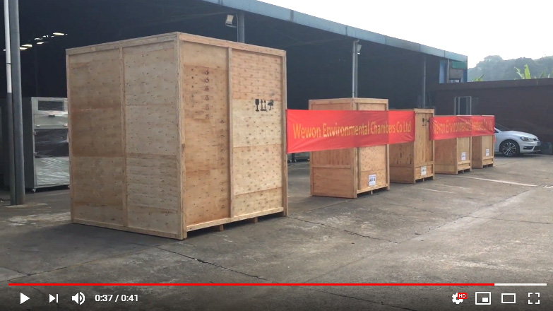 Wewon Environmental Test Chambers Packing and Shipment 001