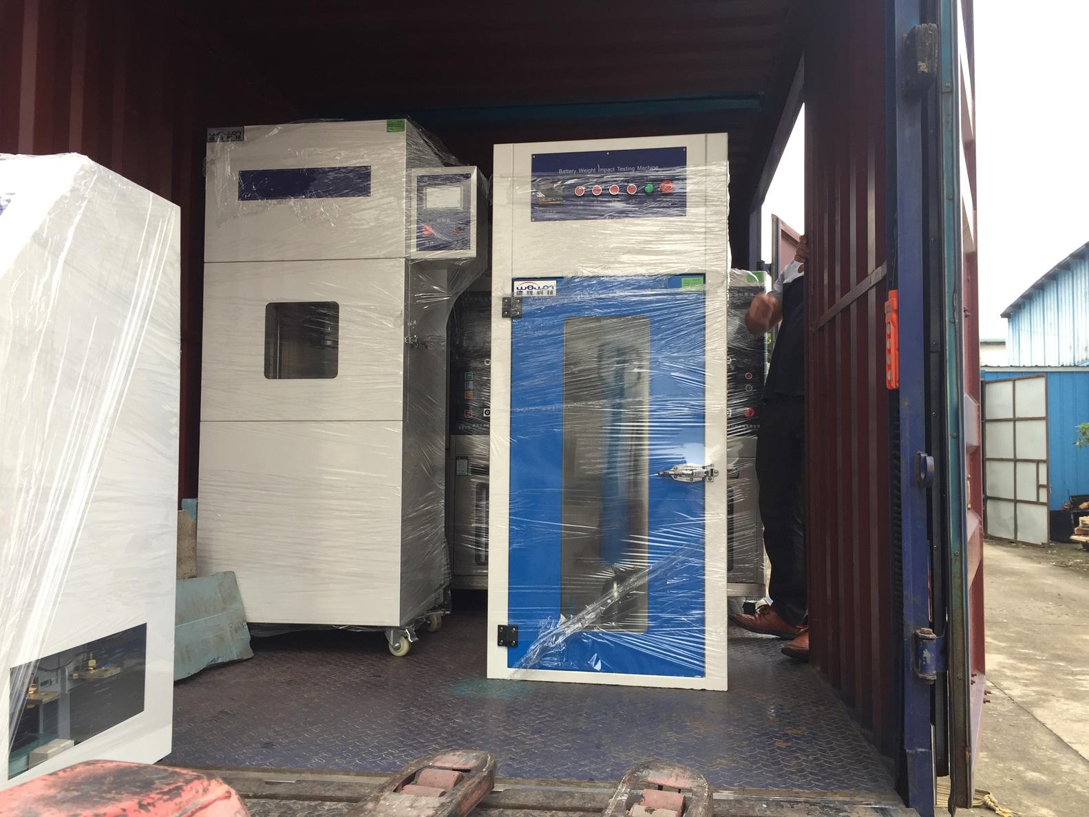 battery crush tester ready for shipment