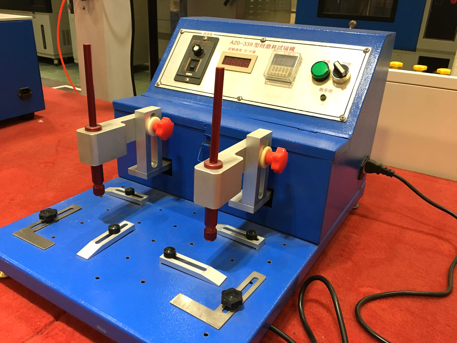 abrasion tester machine for rubber wheels and plastics test