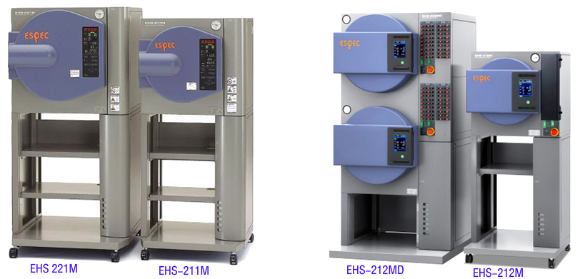 one piece ESPEC EHS 212M hast chamber and one piece ESPEC EHS 212MD hast chamber stay together