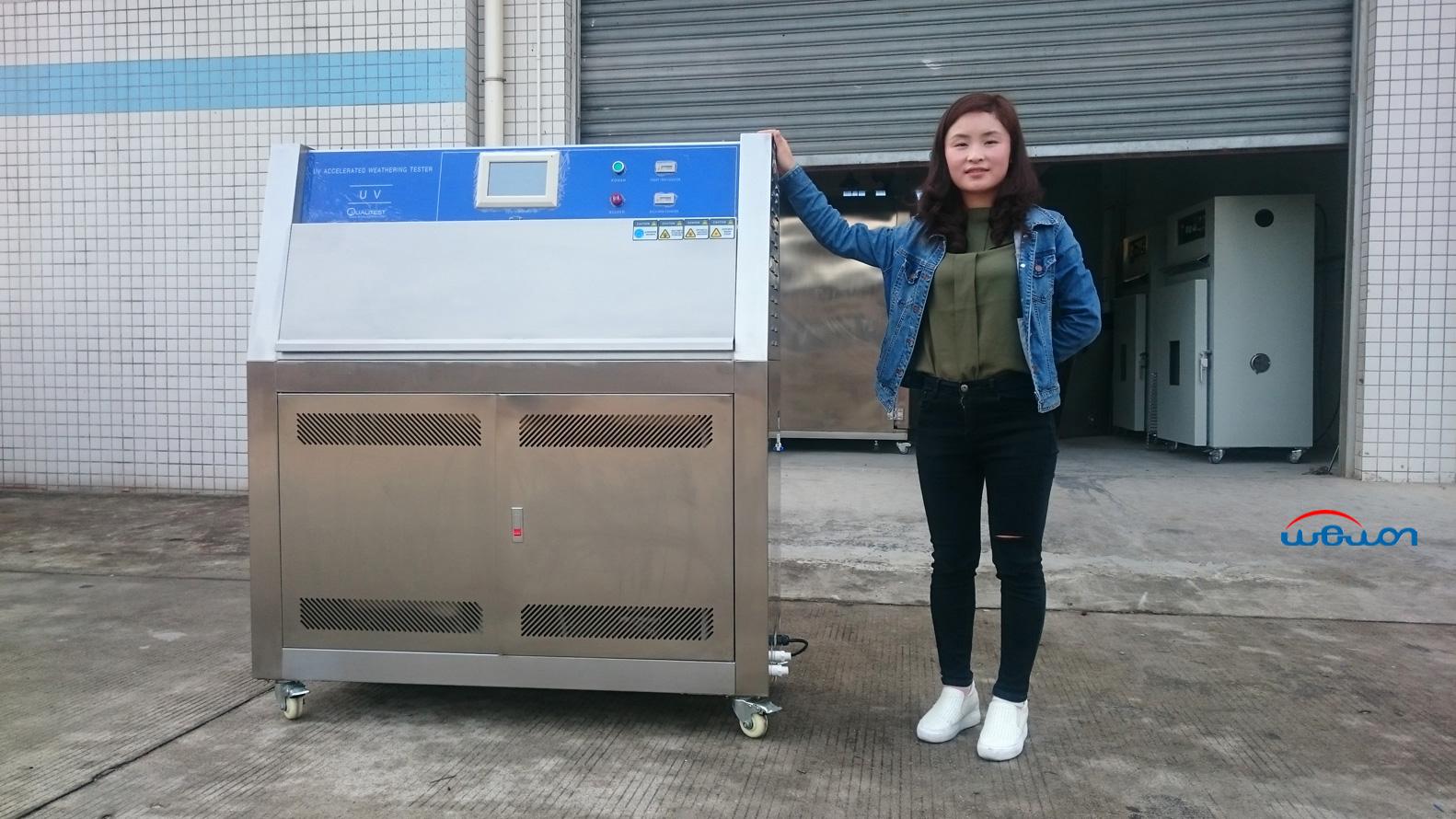 UV test chamber shipment