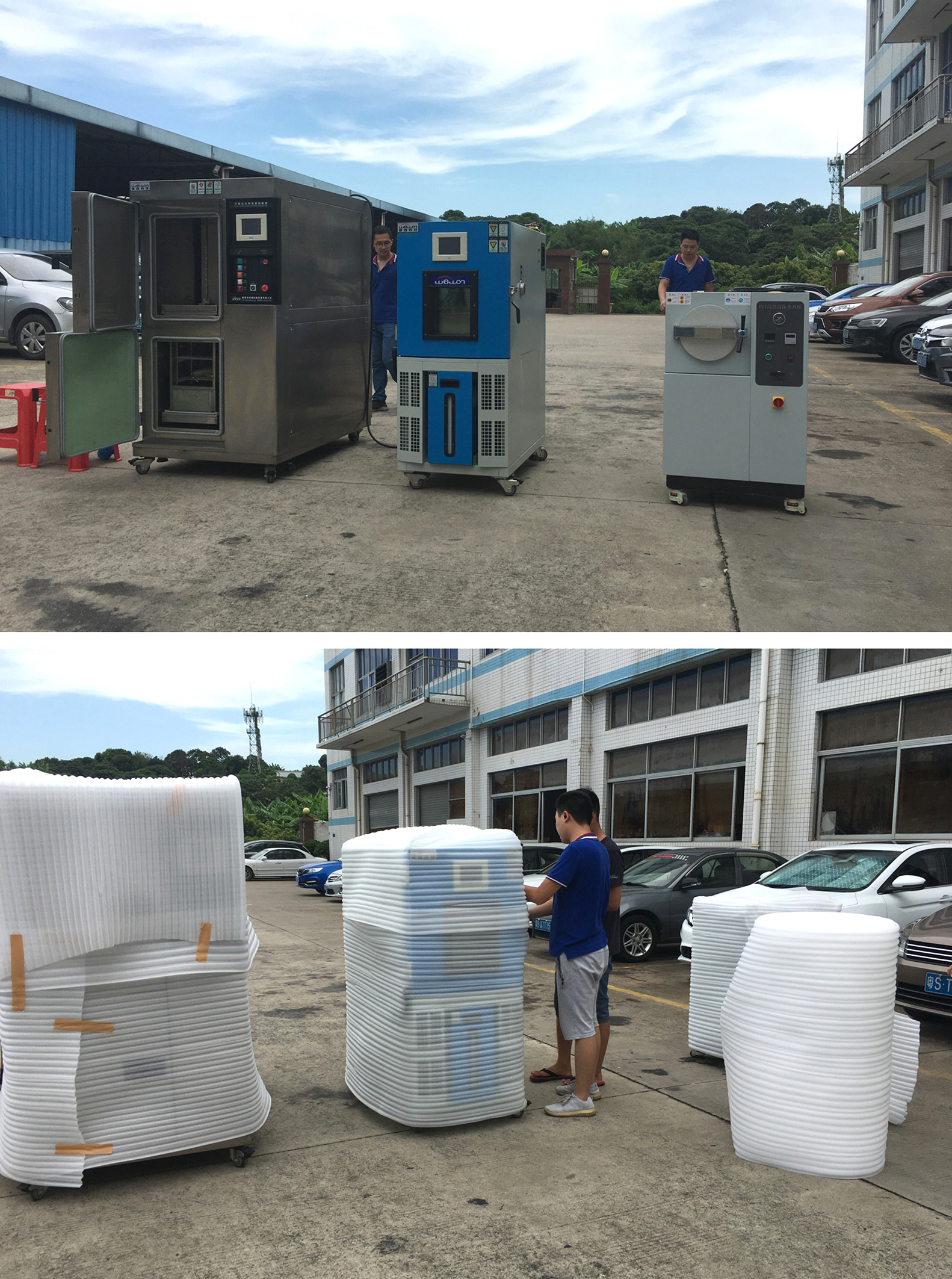 two zones thermal shock chamber
